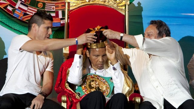 Muhammad Ali being crowned
