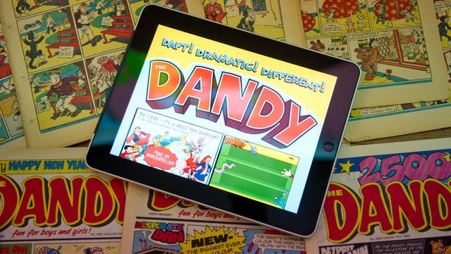 The Dandy on a tablet