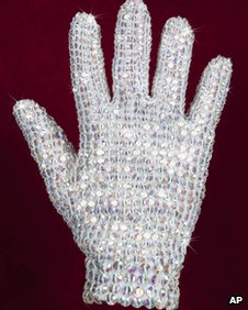 Michael Jackson right-handed glove covered in crystals