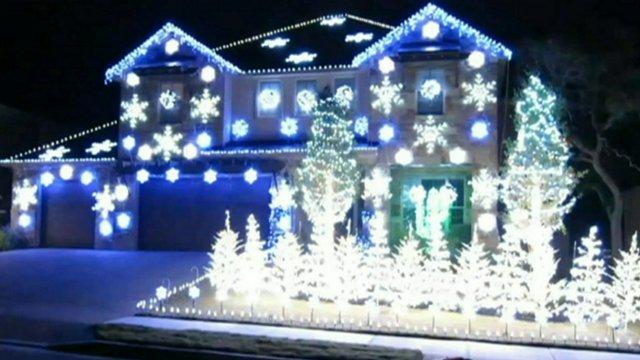 Gangnam Style Christmas lights