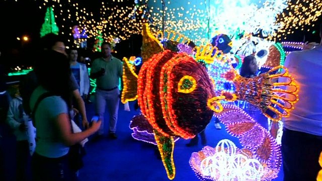 Part of the the LED light display