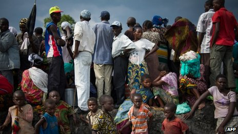 Displaced Congolese civilians