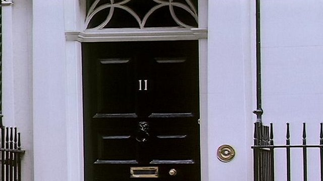 The front door of 11 Downing Street