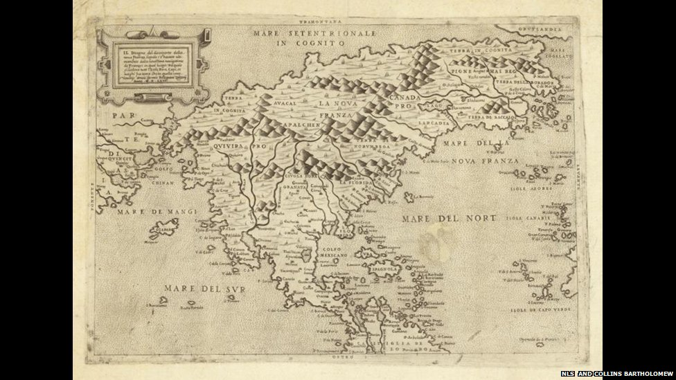 Oldest Map Of America.Bbc News In Pictures The Scots Who Mapped The World