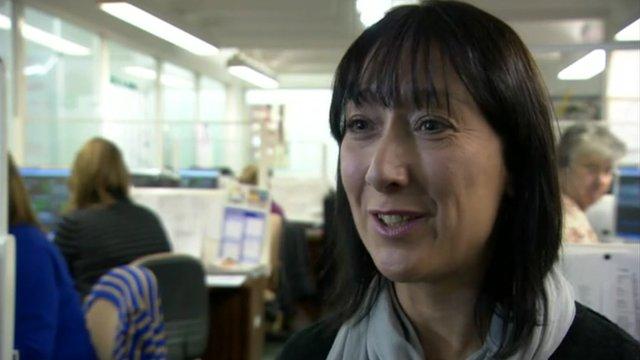 Caroline Boxall, a working mum