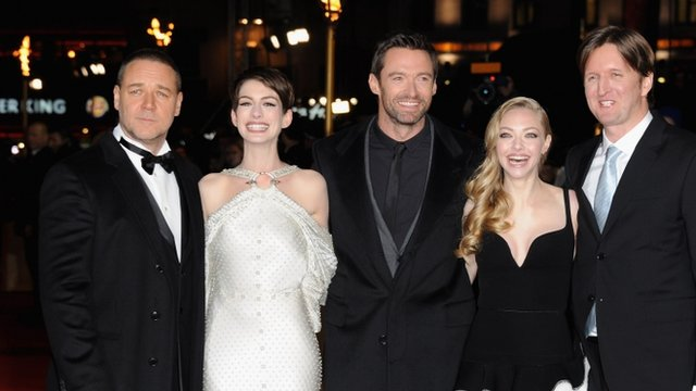 Cast and director of Les Miserables