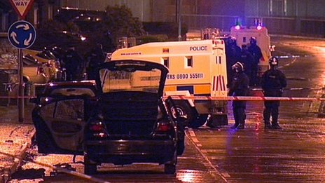 The bomb was found in a car in the Creggan area of Londonderry