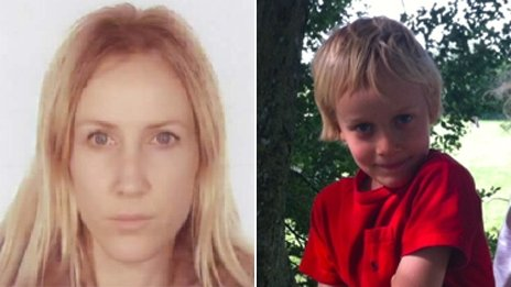Sally Roberts and Neon Luca Roberts. Pic: Police