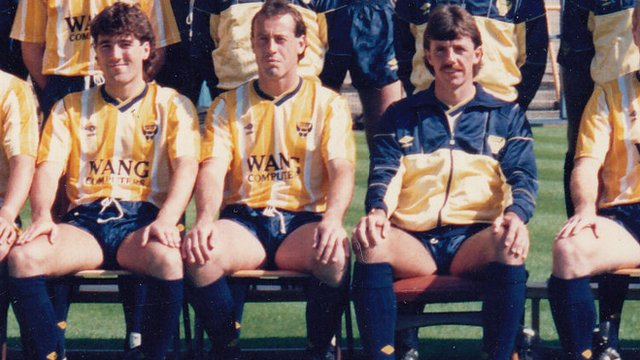 Dean Saunders and Mark Lawrenson at Oxford United