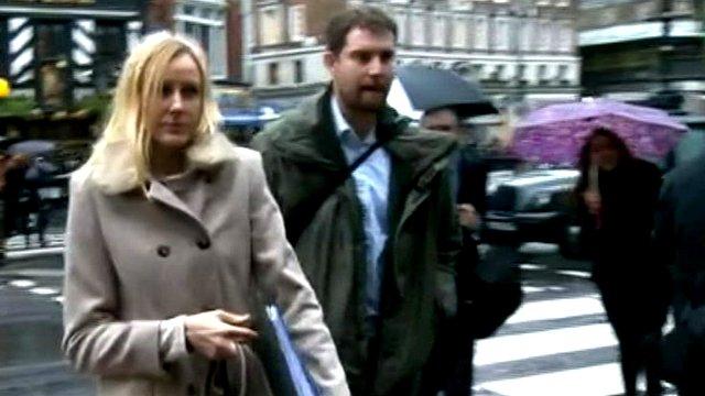 Sally Roberts walks into court