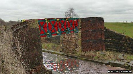 Artists impression of Meccano bridge