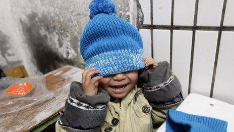 Kindergarten for migrant workers in Beijing, November 2012