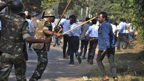 Teacher protest in Bhubaneswar, India, Noveber 2012