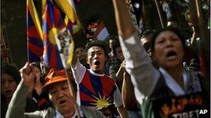Exiled Tibetans in Delhi, India, file image