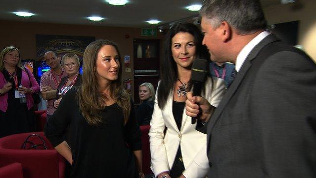Shaun Murphy's girlfriend, Claire Chorlton talks to John Parrot