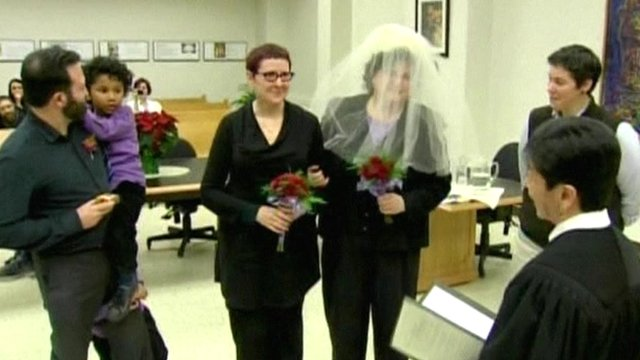 Lesbian couple get married