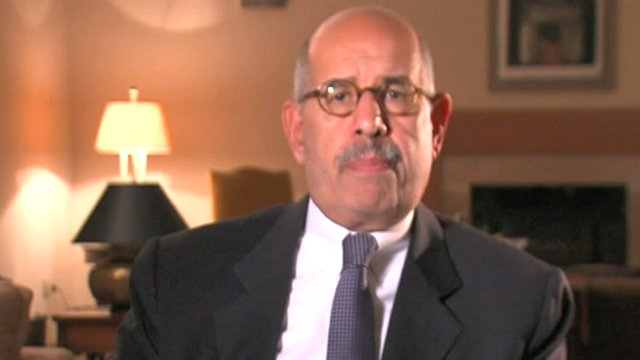 Nobel peace laureate and founder of the Constitution Party Mohammed ElBaradei