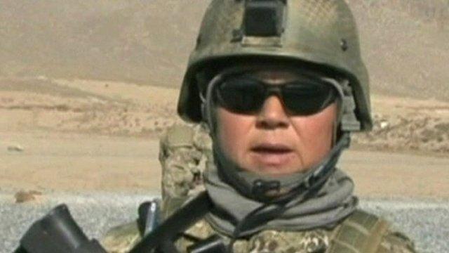 Female Afghan soldier
