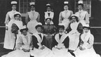 First matron of Whitchurch Hospital with nursing staff