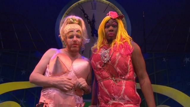 Ugly Sisters in Cinderella at the Lyric, Hammersmith