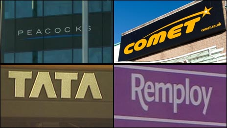 Peacocks, Comet, Tata a Remploy