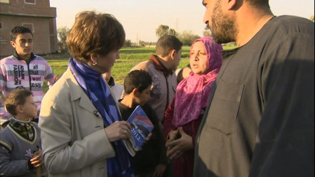 The BBC's Lyse Doucet speaks to Egyptians in President Morsi's hometown