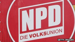 Logo of the far-right National Democratic Party of Germany (NPD)