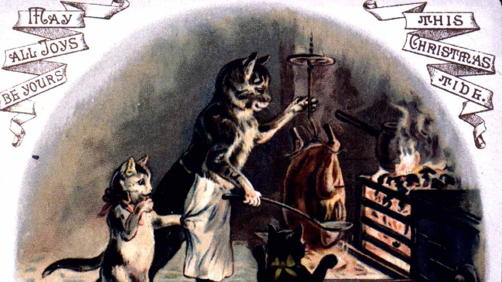 BBC News - Christmas cards from Beamish Museum on show in archive