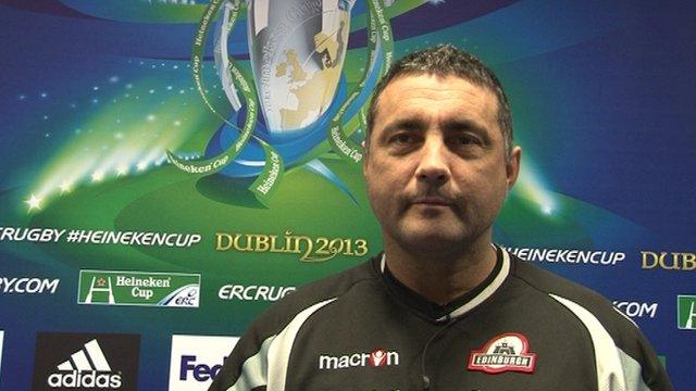 Edinburgh Rugby head coach Michael Bradley