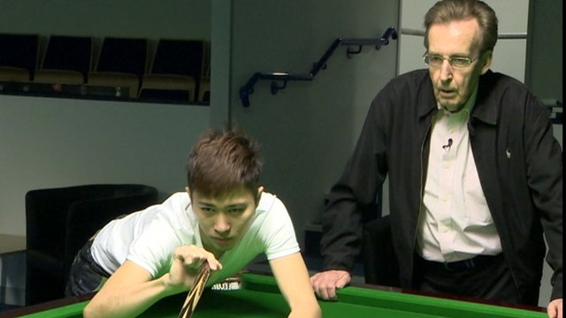 Cao Yupeng and Terry Griffiths