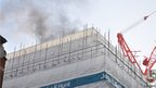 Fire at Moorgate Crossrail site