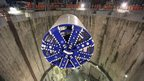 Tunnel boring machine Elizabeth lowered into main shaft at Limmo Peninsular