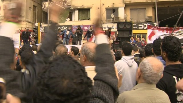 Egyptians in Tahrir Square in Cairo