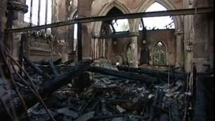 St Barnabas church in Erdington gutted by a fire in 2007