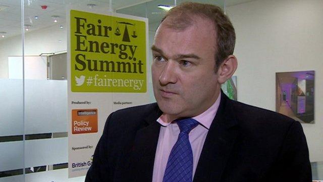 Energy secretary Ed Davey