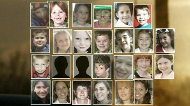 Victims of the school massacre