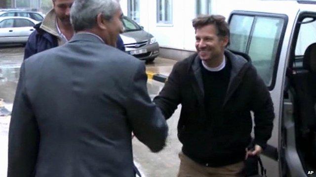 NBC chief foreign correspondent Richard Engel arrives in Turkey