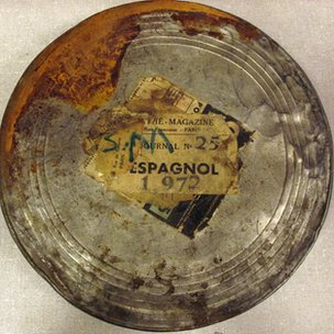 Tin that contained the film