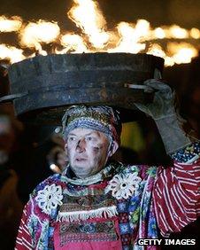 Tar Barrel, or Barl, Festival, Allendale, Northumberland