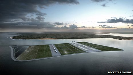 Artist's impression of the Goodwin Sands airport