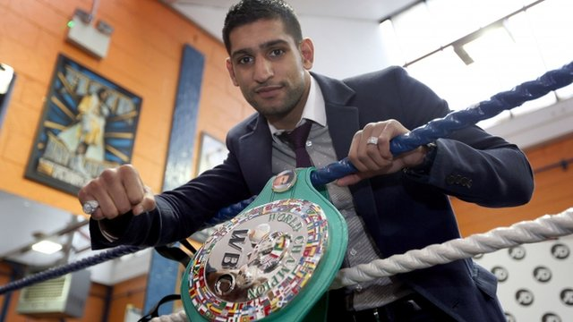 WBC silver light-welterweight champion Amir Khan