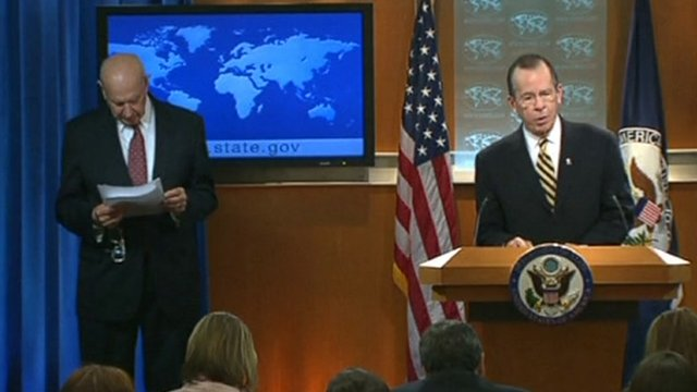 Admiral Mike Mullen news conference