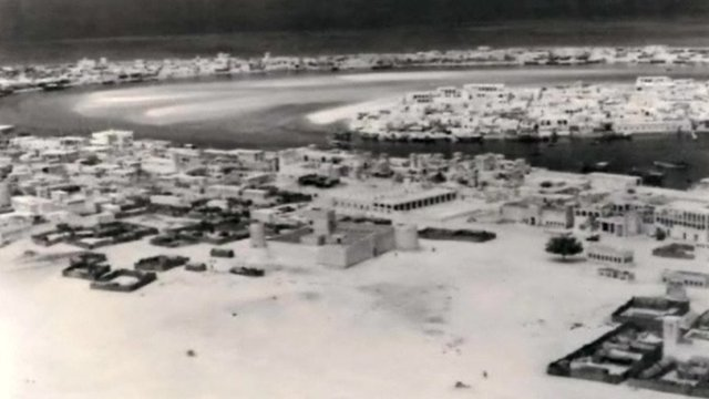 A photo of Dubai in the 1950s