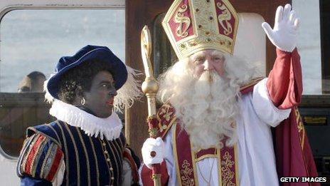 Sinterklaas, the Dutch St Nicholas and Zwarte Piet or Black Pete