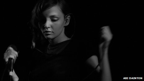 Lauren Mayberry of Chvrches performs at London's Electrowerkz club (photo courtesy of Abi Dainton)