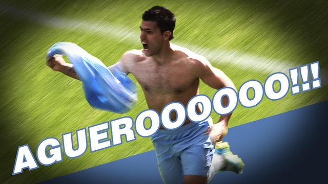 Sergio Aguero scores for Manchester City against QPR