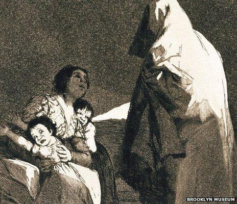 Here comes the bogeyman (Que viene el coco) by Francisco Goya