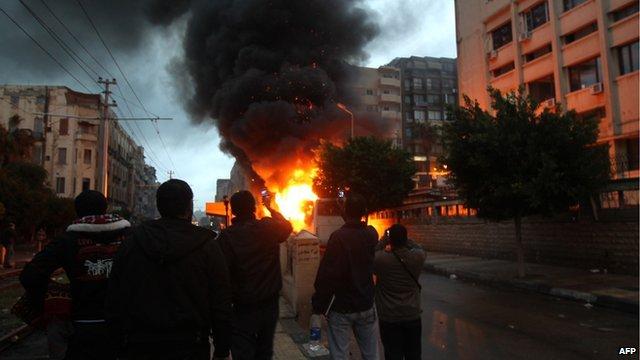 Fire in Alexandria