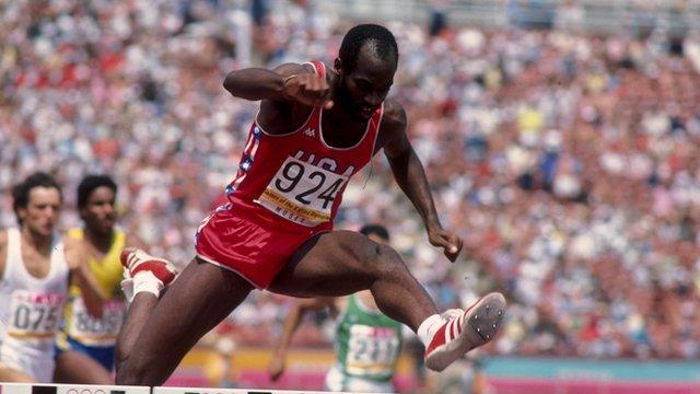 Men's 400m hurdles legend Ed Moses