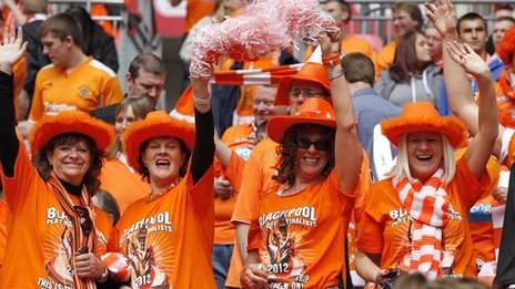 Blackpool Fc Bans Two Fans For Play Off Ticket Sell On Bbc News